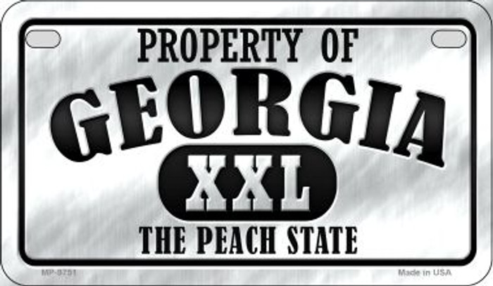 Property Of Georgia Wholesale Novelty Metal Motorcycle Plate MP-9751