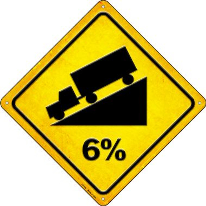 6% Grade Wholesale Novelty Metal Crossing Sign CX-440
