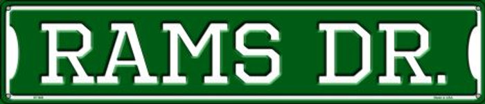 Rams Dr Wholesale Novelty Metal Street Sign ST-966