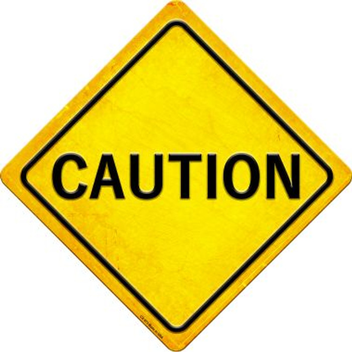 Caution Wholesale Novelty Metal Crossing Sign CX-573