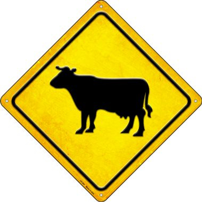 Cow Wholesale Novelty Metal Crossing Sign CX-595
