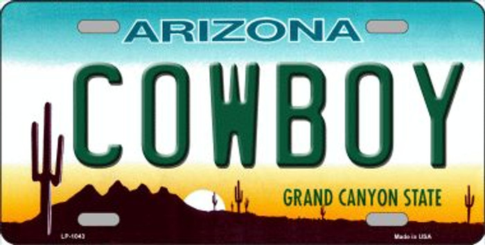 Cowboy Arizona Novelty Wholesale Metal License Plate