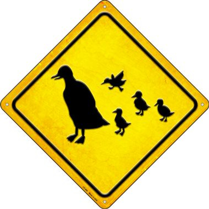 Duck and Ducklings Wholesale Novelty Metal Crossing Sign CX-609