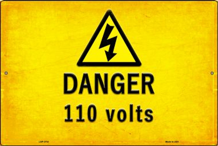 Danger 110 Volts Wholesale Novelty Metal Large Parking Sign LGP-2743