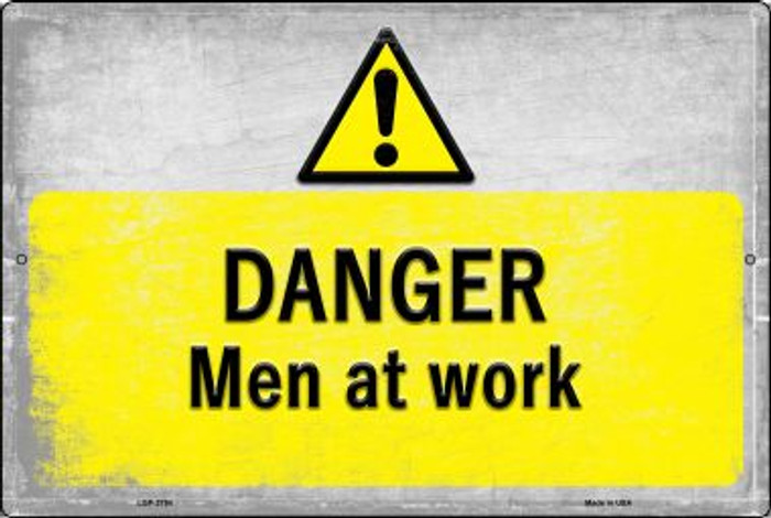 Danger Men at Work Wholesale Novelty Metal Large Parking Sign LGP-2754