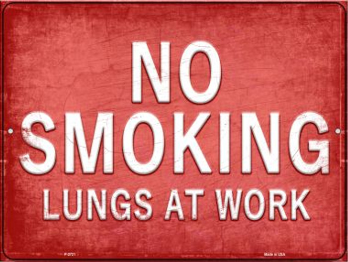 No Smoking  Wholesale Novelty Metal Parking Sign P-2721