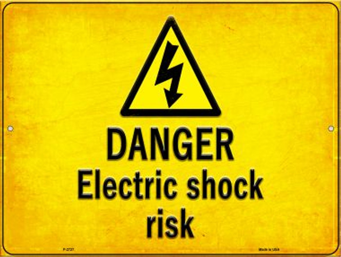 Danger Electric Shock Risk Wholesale Novelty Metal Parking Sign P-2727