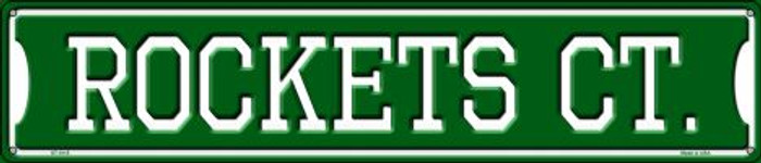 Rockets Ct Wholesale Novelty Metal Street Sign ST-1015