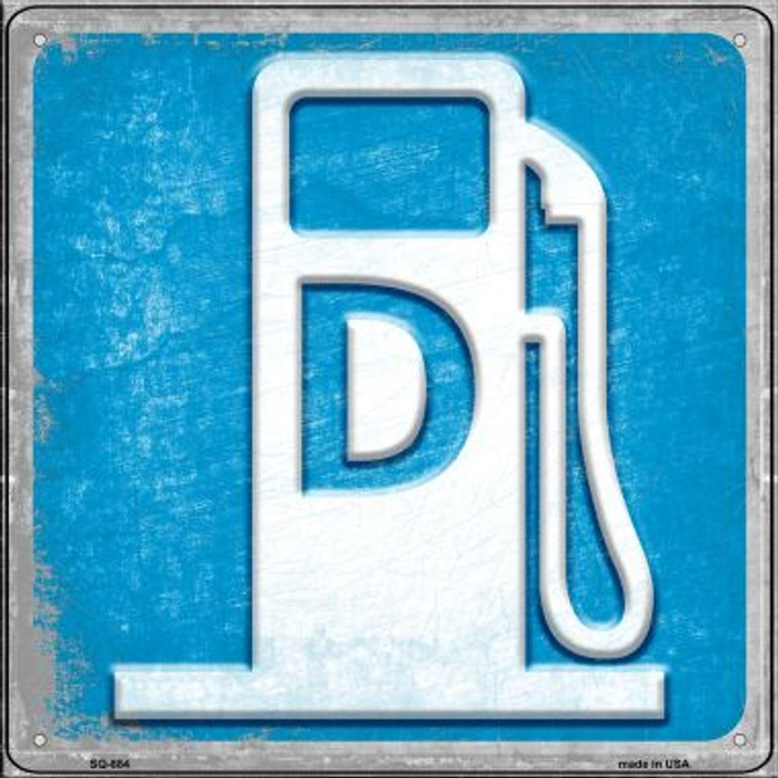 Diesel Wholesale Novelty Metal Square Sign SQ-884