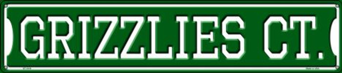 Grizzlies Ct Wholesale Novelty Metal Street Sign ST-1019