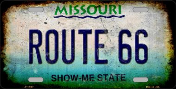 Route 66 Missouri Wholesale Novelty Metal License Plate LP-12507