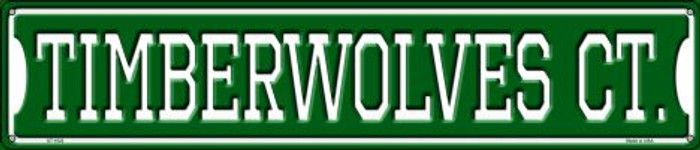 Timberwolves Ct Wholesale Novelty Metal Street Sign ST-1022