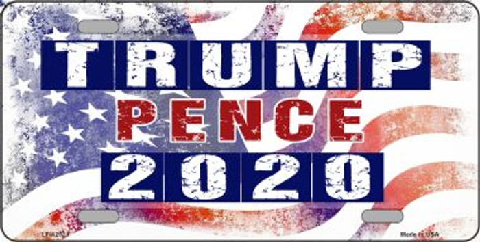 Trump and Pence 2020 Wholesale Novelty Metal License Plate LP-12521