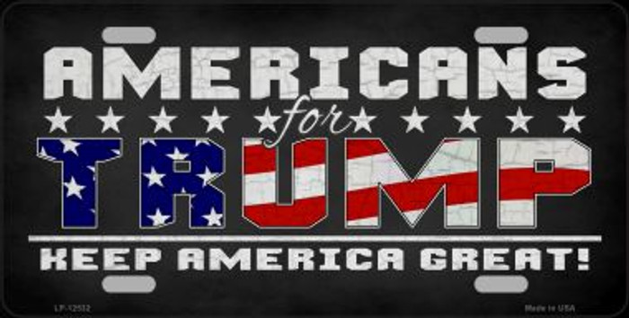 Americans For Trump Wholesale Novelty Metal License Plate LP-12532