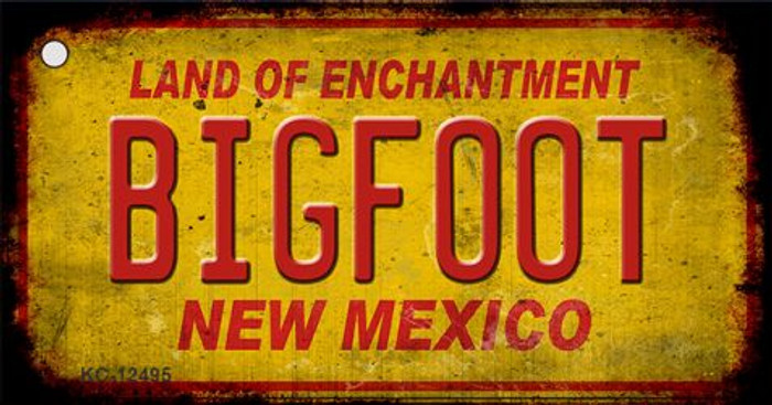 Bigfoot New Mexico Wholesale Novelty Metal Key Chain KC-12495