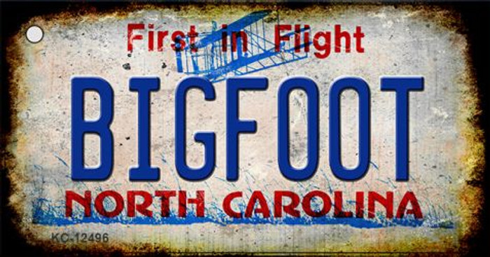 Bigfoot North Carolina Wholesale Novelty Metal Key Chain KC-12496