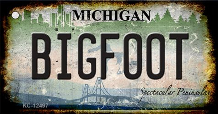 Bigfoot Michigan Wholesale Novelty Metal Key Chain KC-12497