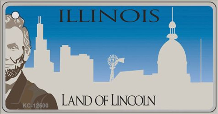 Illinois Blank Wholesale Novelty Metal Key Chain KC-12500