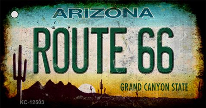 Route 66 Arizona Wholesale Novelty Metal Key Chain KC-12503