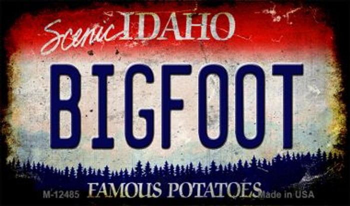 Bigfoot Idaho Wholesale Novelty Metal Magnet M-12485