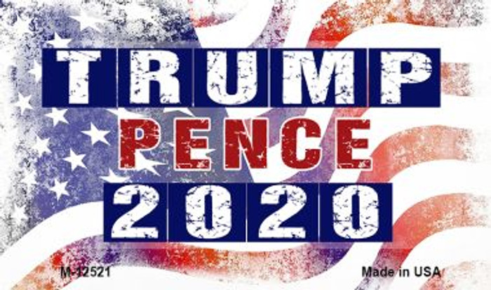 Trump and Pence 2020 Wholesale Novelty Metal Magnet M-12521