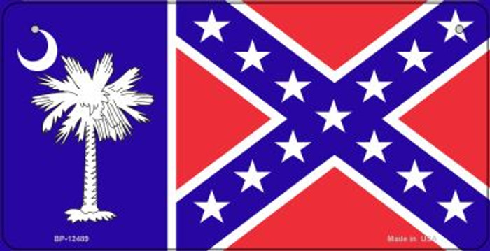 South Carolina Confederate Flag Wholesale Novelty Metal Bicycle Plate BP-12489