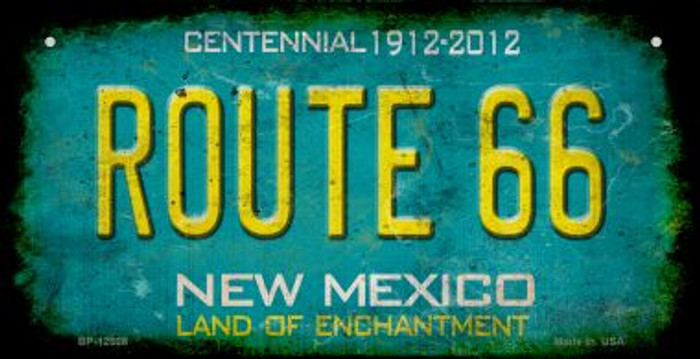 Route 66 New Mexico Wholesale Novelty Metal Bicycle Plate BP-12508
