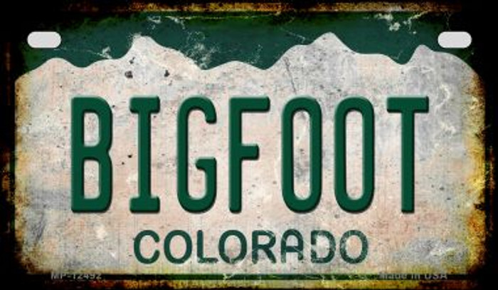 Bigfoot Colorado Wholesale Novelty Metal Motorcycle Plate MP-12492