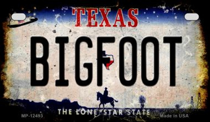 Bigfoot Texas Wholesale Novelty Metal Motorcycle Plate MP-12493