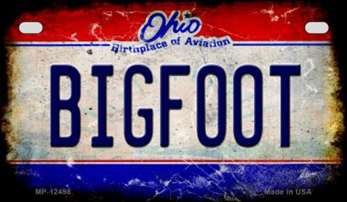 Bigfoot Ohio Wholesale Novelty Metal Motorcycle Plate MP-12498