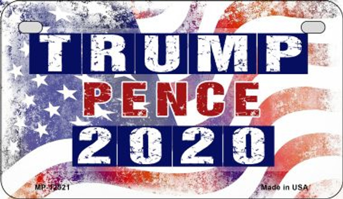 Trump and Pence 2020 Wholesale Novelty Metal Motorcycle Plate MP-12521