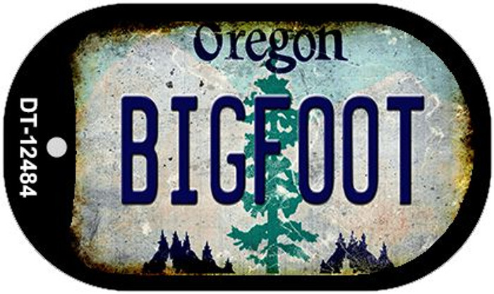 Bigfoot Oregon Wholesale Novelty Metal Dog Tag Necklace DT-12484