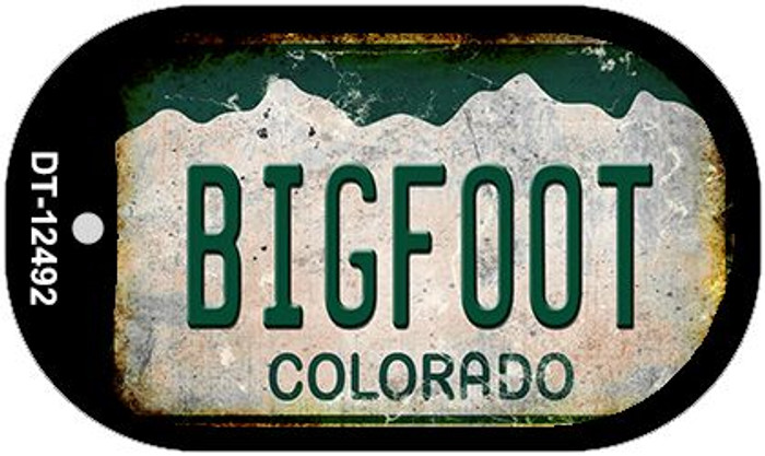 Bigfoot Colorado Wholesale Novelty Metal Dog Tag Necklace DT-12492