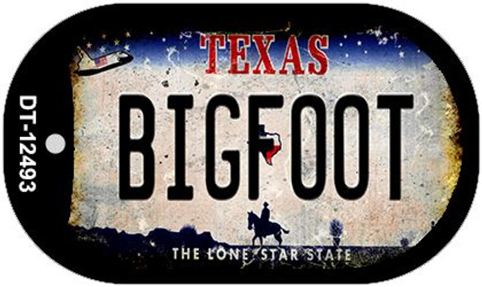 Bigfoot Texas Wholesale Novelty Metal Dog Tag Necklace DT-12493