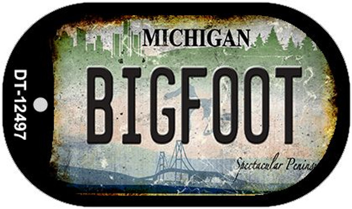 Bigfoot Michigan Wholesale Novelty Metal Dog Tag Necklace DT-12497