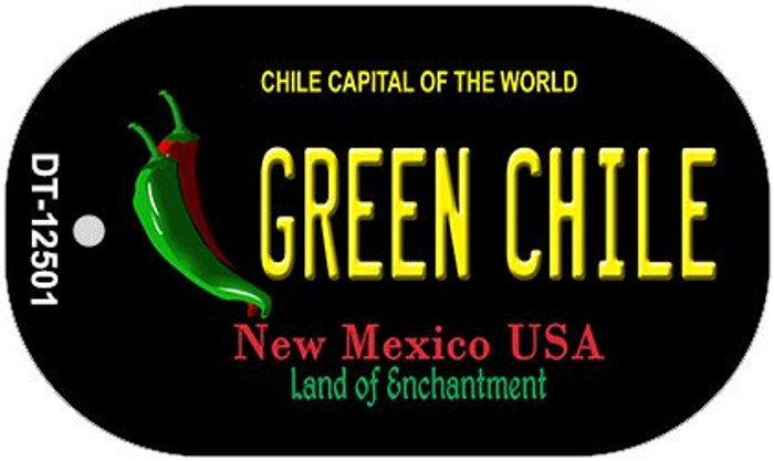 Green Chile New Mexico Black Wholesale Novelty Metal Dog Tag Necklace DT-12501