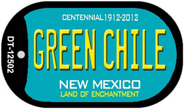 Green Chile New Mexico Green Wholesale Novelty Metal Dog Tag Necklace DT-12502