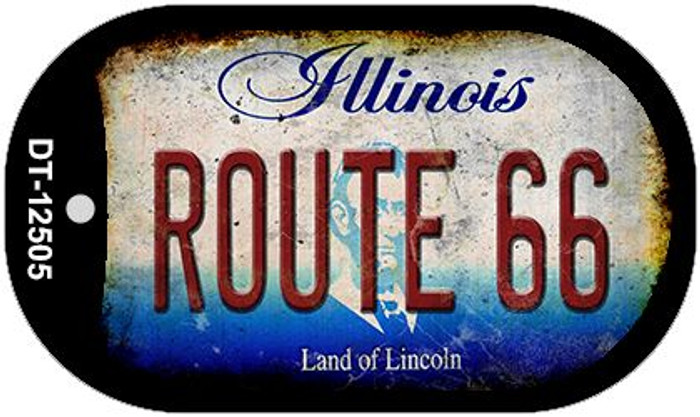Route 66 Illinois Wholesale Novelty Metal Dog Tag Necklace DT-12505