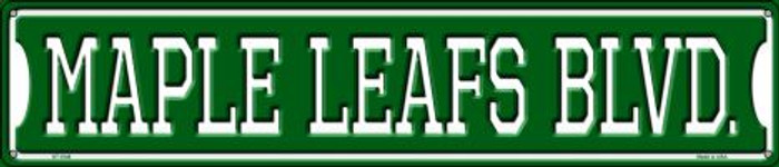Maple Leafs Blvd Wholesale Novelty Metal Street Sign ST-1048
