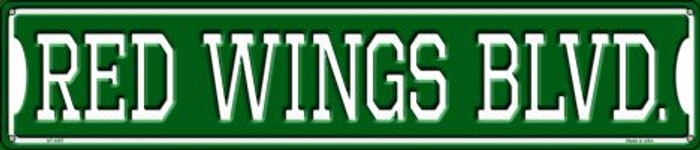 Red Wings Blvd Wholesale Novelty Metal Street Sign ST-1057