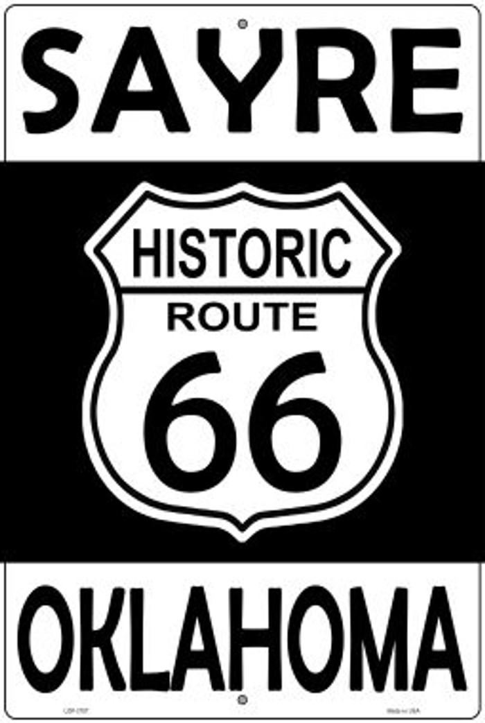 Sayre Oklahoma Historic Route 66 Wholesale Novelty Metal Large Parking Sign LGP-2787