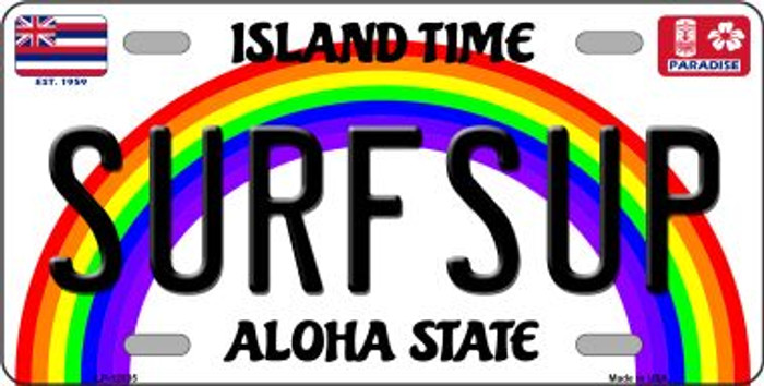 Surfsup Hawaii Wholesale Novelty Metal License Plate LP-12535