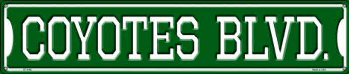 Coyotes Blvd Wholesale Novelty Metal Street Sign ST-1062