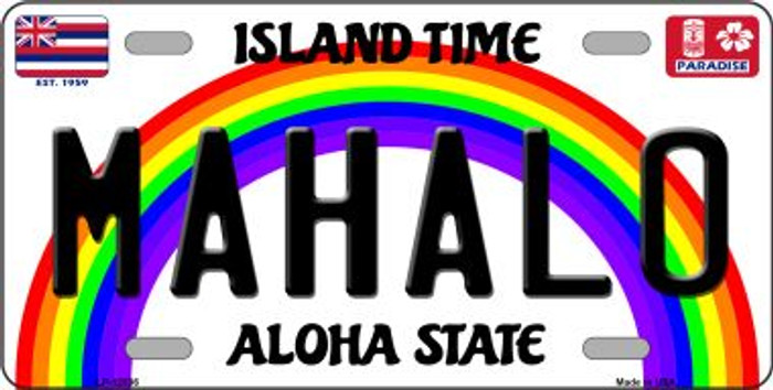 Mahalo Hawaii Wholesale Novelty Metal License Plate LP-12536