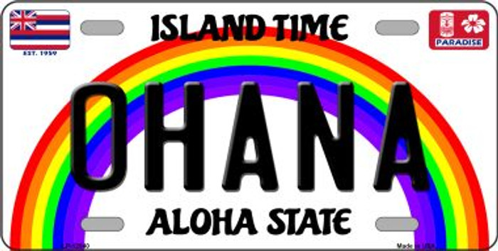 Ohana Hawaii Wholesale Novelty Metal License Plate LP-12540