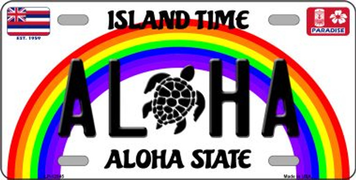 Aloha Turtle Hawaii Wholesale Novelty Metal License Plate LP-12545
