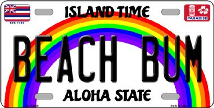 Beach Bum Hawaii Wholesale Novelty Metal License Plate LP-12555