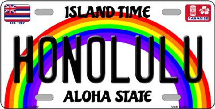 Honolulu Hawaii Wholesale Novelty Metal License Plate LP-12569