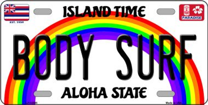 Body Surf Hawaii Wholesale Novelty Metal License Plate LP-12586