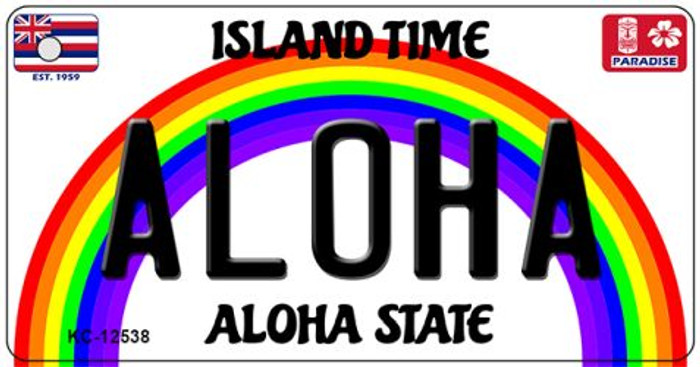 Aloha Hawaii Wholesale Novelty Metal Key Chain KC-12538